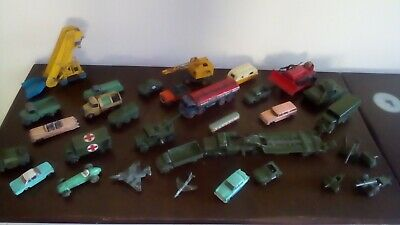 Dinky Toys: large job lot of vintage Macano Dinky toys Military and no numbers