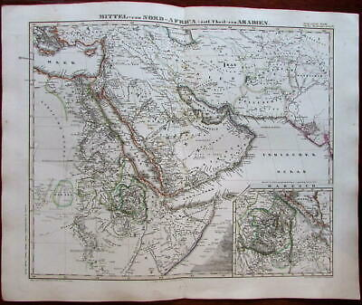 Arabian peninsula 1862 Stulpnagel map East Africa Nile source Mts. of Donga