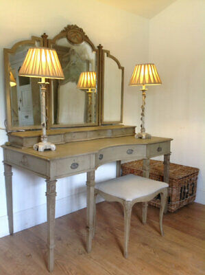 Antique dressing table and stool set