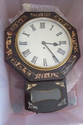 Antique Drop Dial Wall Clock English Fusee 12 Inch Dial 23 Inches Long