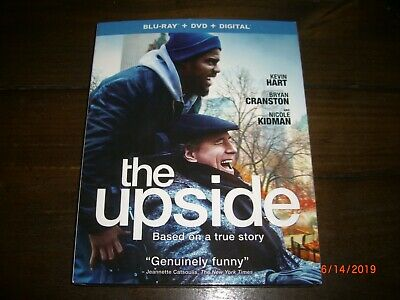 The Upside (Blu-ray + DVD + Digital, 2019) Kevin Hart Bryan Cranston Nicole Kidm
