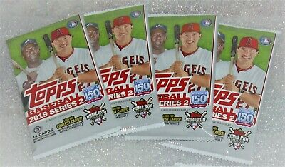 2019 Topps Baseball Series 2 Factory Sealed Hobby 4-Pack Combo In Stock