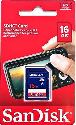 Sandisk 16GB SD SDHC Memory Card - New Original in Retail Package