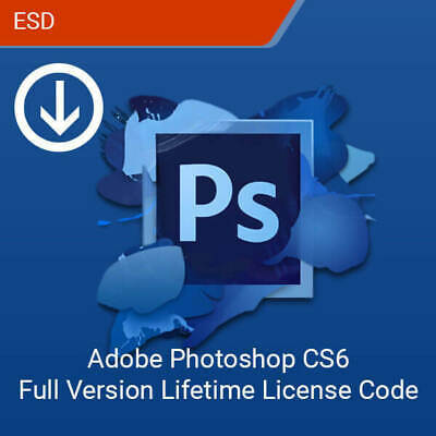 Adobe Photoshop CS6 Extended| 1PC Lifetime Digital Key Only | No CD/DVD