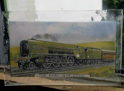 Stained Glass Earl Marischal Steam Train Locomotive - Kiln fired glass pane!