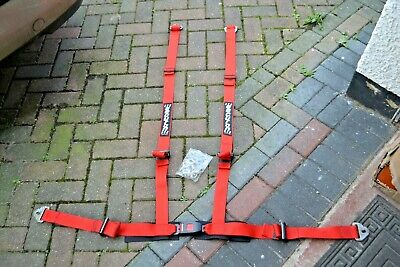 4 Point Racing race rally car Harness Securon Red Classic Mini Mk1 Escort MG