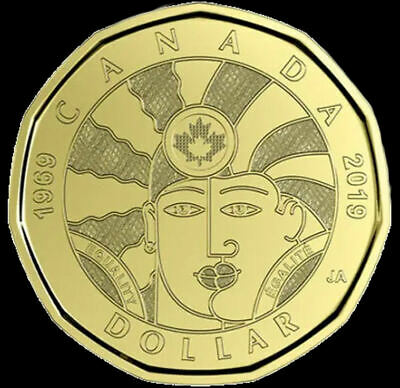 Canada  2019 (loonie)  EQUALITY  $1 dollar coin UNC from roll