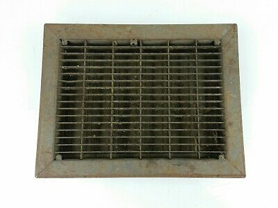 "Vintage Metal Heat Register Grate Vent w/ Louvers 9"" x 12"" Rectangle"