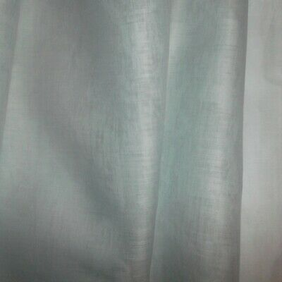Vintage ORGANDY lt BLUE sheer crisp Cotton FABRIC 40-50's era DOLL by the 1/2 YD