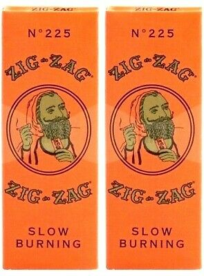 2 Packs Zig Zag Orange 1 1/4 Rolling Papers Slow Burning Fast USA Shipper