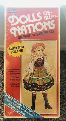 """LITTLE MISS POLAND"" DOLLS OF ALL NATIONS Oil Painting  SET #15606 SEALED"