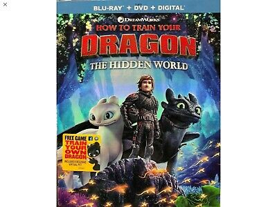 How To Train Your Dragon The Hidden World(Blu-Ray+Dvd+Digital)W/Slipcover New