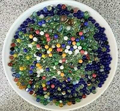 Vintage Clear glass marbles collection//wedding//decorative 4 pounds 1//2in to 7//16