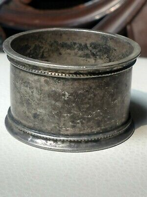 Large, Heavy Antique or Vintage Sterling Silver Napkin Ring, 55g