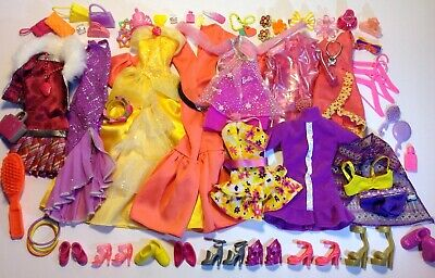 Barbie Doll Clothes Fashion Vintage Outfits Shoes Bags Matching Accessories Lot