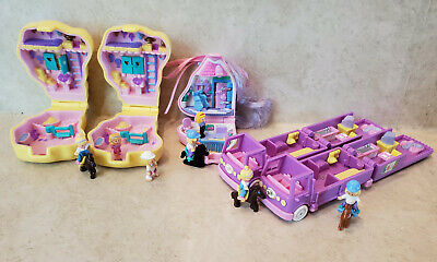 Vintage Bluebird Polly Pocket Horse Lot Of 5 with Figures and Horses