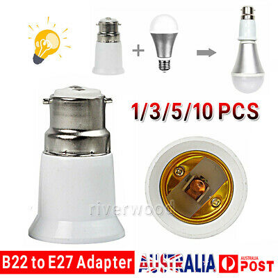10PCS B22 to E27 Bulb Light Lamp Base Edison Screw Bayonet Converter Adapter