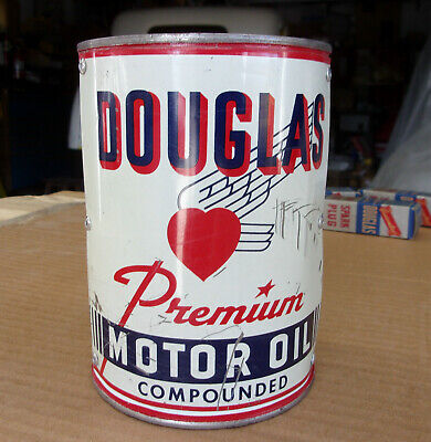 VINTAGE POWER PUNCH Premium Motor Oil Metal Can 1 quart qt 2&4 cycle