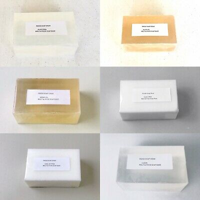 Best Selling Melt and Pour Soap Bases Low Sweat + free fragrance + 30 recipes