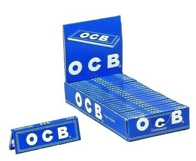 OCB Rolling Papers Blue Chlorine Free SPECIAL Buy 4 @ Only $1.24/Pk! USA Shipper