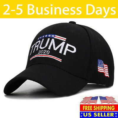 Trump 2020 MAGA Hat Embroidered Hat Keep Make America Great Again Cap Black Vz