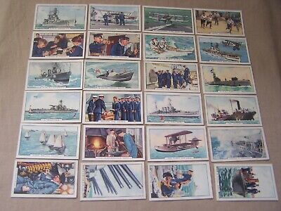 Cigarette cards  Gallaher 1937 'the navy'  full set 48/48