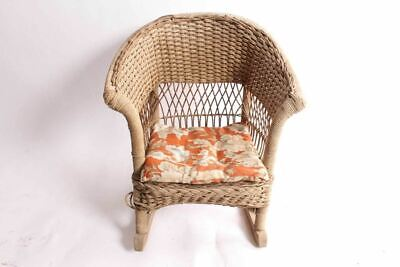 Antique Childs Kids Wicker Rocking Chair Rocker