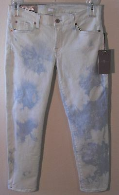 NWT 7 For All Mankind Roxanne Womens Cropped Skinny Jeans 28 Tie Die MSRP$178