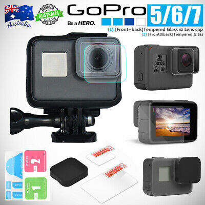 Lens Protector+Screen Protector Tempered Glass for GoPro Hero 7 Camera