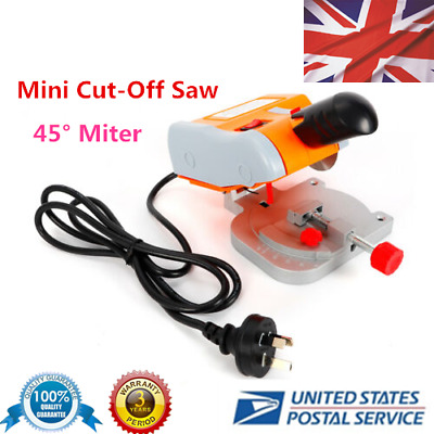 "Mini Benchtop Cut-off Saw 45° Miter Cutter 2"" Steel Blade 3/8"" Arbor 220V 60HZ"
