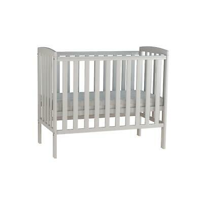 New Baby White Wooden Compact Cot Bed Nursery Toddler Stylish Sleeping Quarter