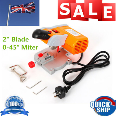 "110V Mini Benchtop Cut-Off Saw Cutting Tool 45° Miter 2"" Blade Wood Metal Cutter"