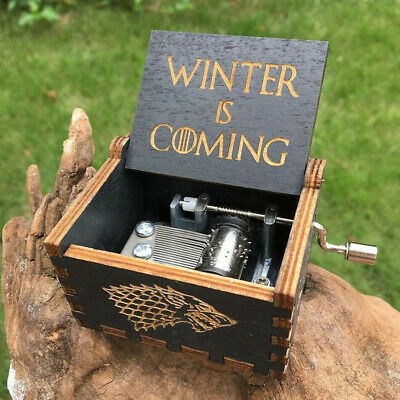 Game of Thrones Wooden Music Box Engraved Handmade GoT Music Theme