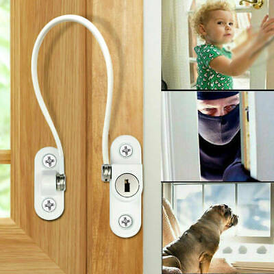 Kids Child Baby Safety Door Lock Proof Cupboard Window Cabinet Prevent Clamping