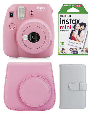 Fuji Instax Mini 9 XMAS SET blush rose Sofortbildkamera, Film, Tasche, Album