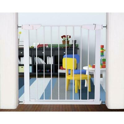 New White Baby Safe Gate Cuggl Pressure Easy Close Function Fit Child Safety