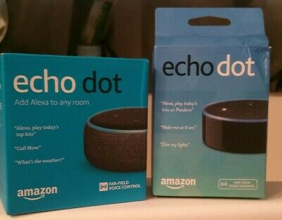 New 2 Amazon Echo Dot (3rd Generation) and (2nd Generation)