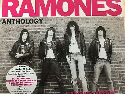 RAMONES - Anthology 2 x CD & Hard Cover Book 1999 Rhino Excellent Cond! 2CD