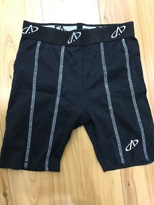 Youth Black Authentics Brand Compression Shorts, X Small