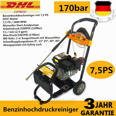NEW Petrol Pressure Washer -  2465PSI / 170 BAR - POWER JET CLEANER 7,5 PS DHL