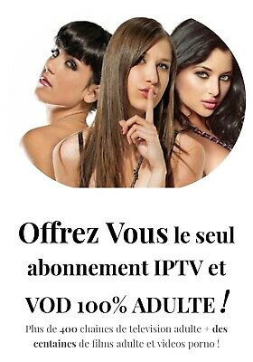 IPTV ABONNEMENT 1 MOIS 400 CHAINES ADULTE / FUL HD 4k /ANDROID/MAG/VLC/VOD/M3U
