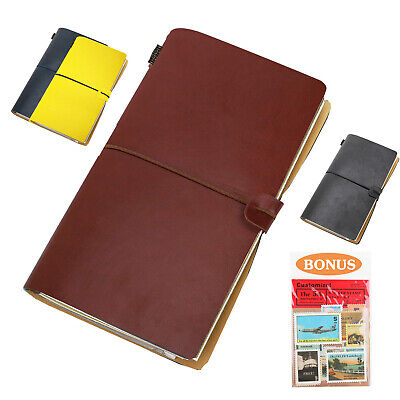 MoKo Leather Travel Journal Refillable Notebook Sketchbook Diary Rustic Retro