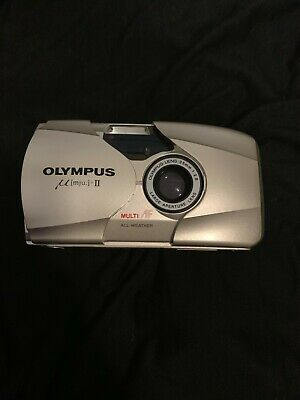 OLYMPUS MJU II film camera. multi all weather. 35mm. pre loved