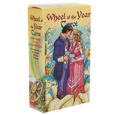 78pcs/set Wheel of the Year Tarot Board Future Telling Game Deck Wiccan Home