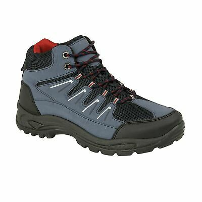 New Mens Ankle High lace Up Trail Comfy Walking Hiking Trekking Boots Trainers