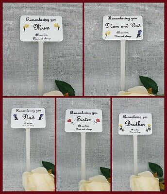 Personalised Memorial Marker Grave Plaque Spike Any Name Relation Words Inc