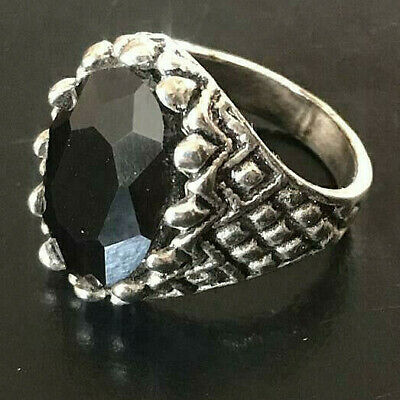 Gorgeous Vintage Medieval Ancient Ring SILVER With Black stone