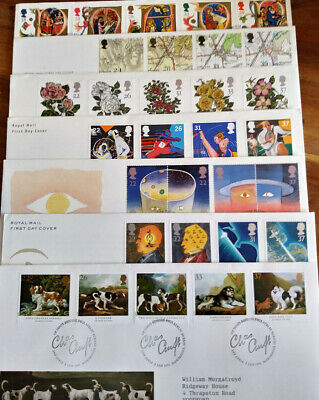 GB 1991 QEII Small Collection of 7 X First Day Covers All Different See Scans