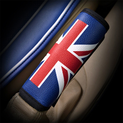 RED Union Jack PU Leather Hand Brake Cover Mini Cooper Clubman Countryman