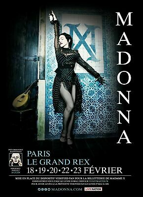 Madonna Madame X Tour 29 feb 2020 Paris Ticket ORQUESTRA RANG J - 1 BILLET